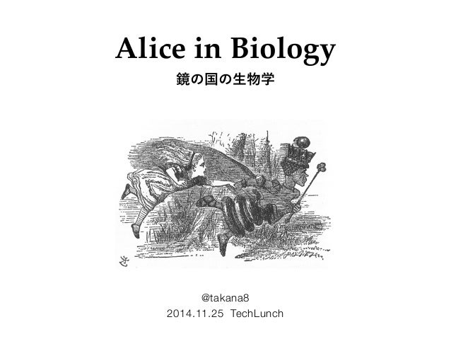 Alice in Biology  鏡の国の生物学  @takana8  2014.11.25 TechLunch
