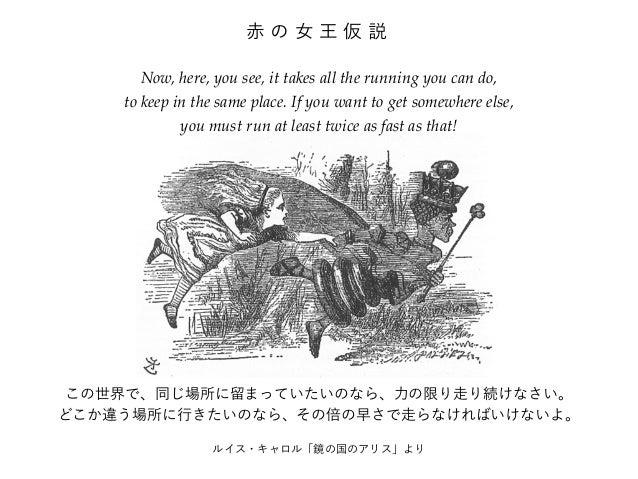 赤の女王仮説  Now, here, you see, it takes all the running you can do,  to keep in the same place. If you want to get somewhere ...