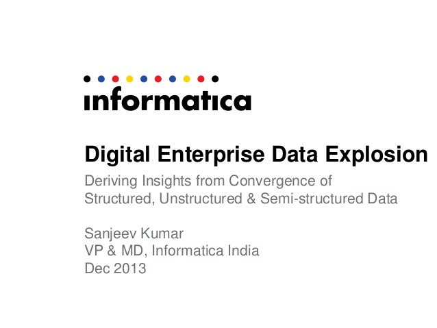 Digital Enterprise Data Explosion Deriving Insights from Convergence of Structured, Unstructured & Semi-structured Data Sa...