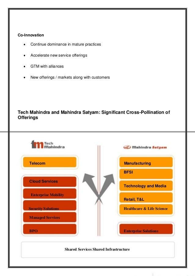 Tech Mahindra And Mahindra Satyam Mergers