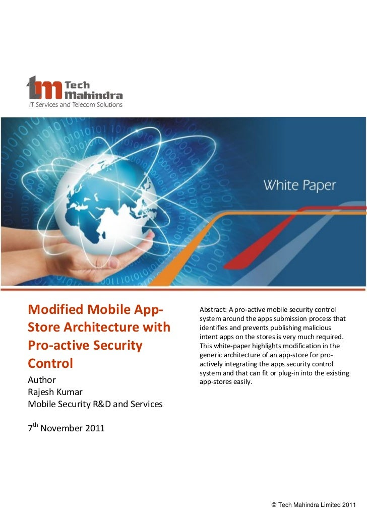 Modified Mobile App-                         Abstract: A pro-active mobile security control                               ...
