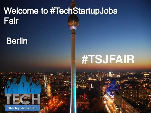 TechMeetups presenting at TechStartupJobs Fair Berlin Spring