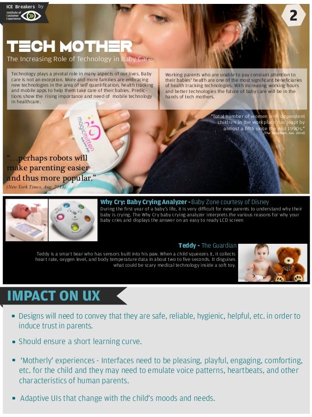 ICE Breakers by 2 tention. Why Cry: Baby Crying Analyzer -Baby Zone courtesy of Disney Teddy - The Guardian - IMPACT ON UX...