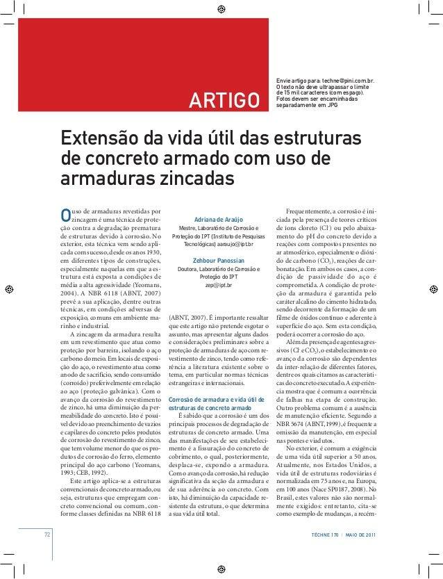 72 Téchne 170 | MAIo de 2011 artigo Envie artigo para: techne@pini.com.br. O texto não deve ultrapassar o limite de 15 mil...