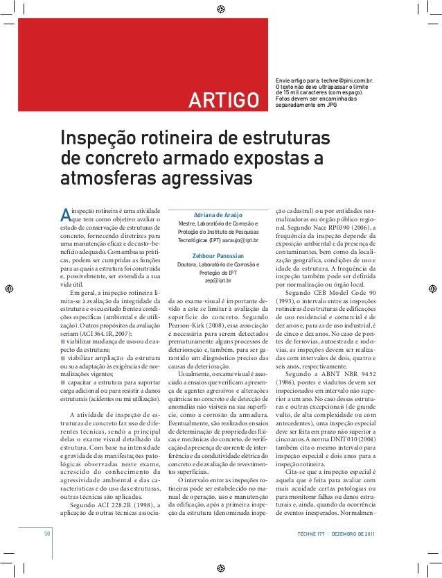 58 Téchne 177 | dezembro de 2011 artigo Envie artigo para: techne@pini.com.br. O texto não deve ultrapassar o limite de 15...