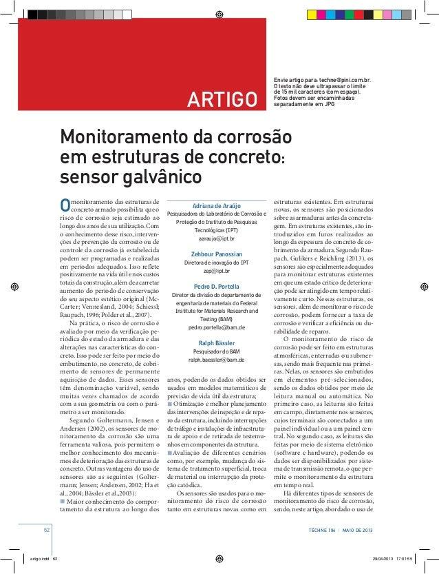 62 Téchne 194 | MAIO de 2013 artigo Envie artigo para: techne@pini.com.br. O texto não deve ultrapassar o limite de 15 mil...