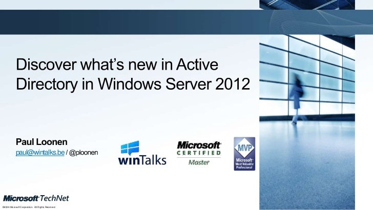 Discover What S New In Windows Server 2012 Active Directory