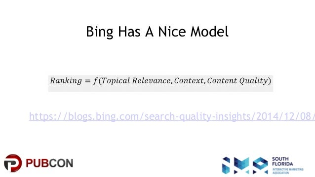 #pubcon Bing Has A Nice Model https://blogs.bing.com/search-quality-insights/2014/12/08/
