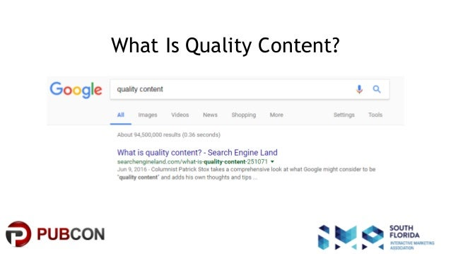 #pubcon What Is Quality Content?