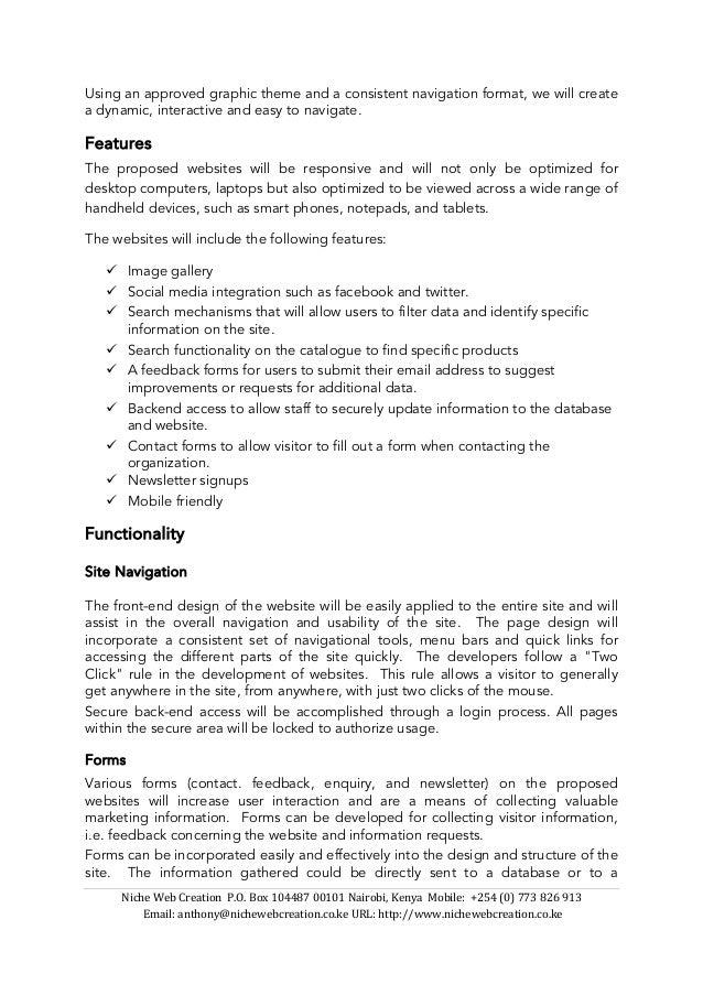 Web Hosting Web Design Development Technical Proposal