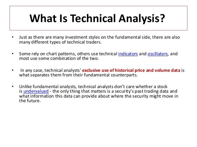 Technical analysis Fundamentals