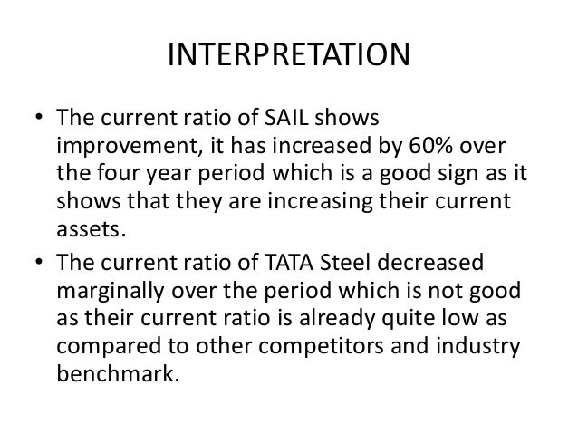 financial analysis of sail and tata