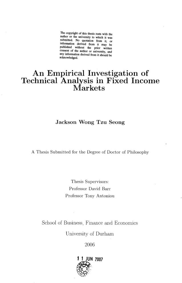 Thesis technical analysis