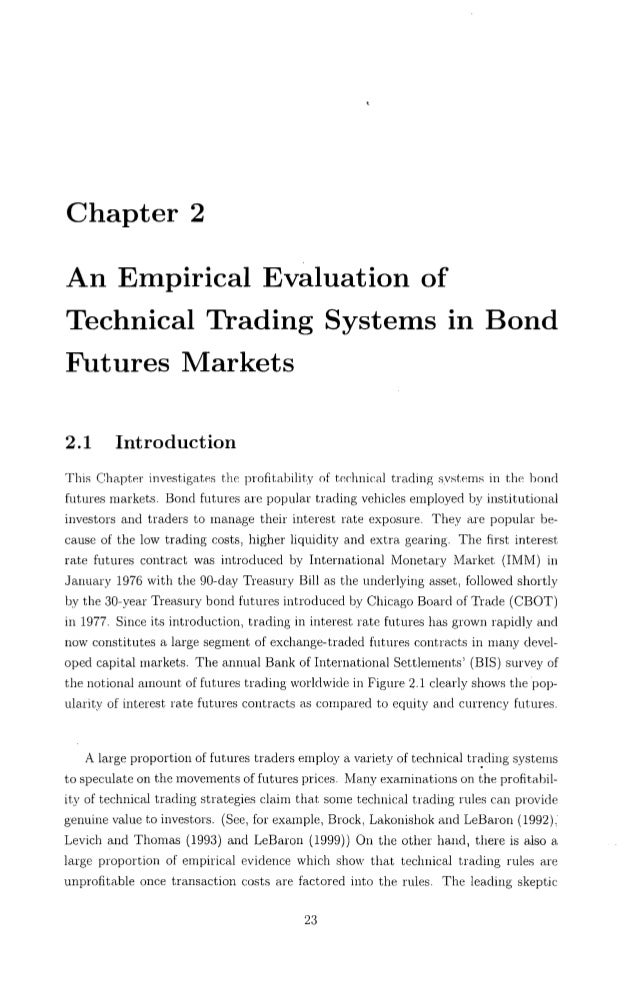 Master thesis on technical analysis