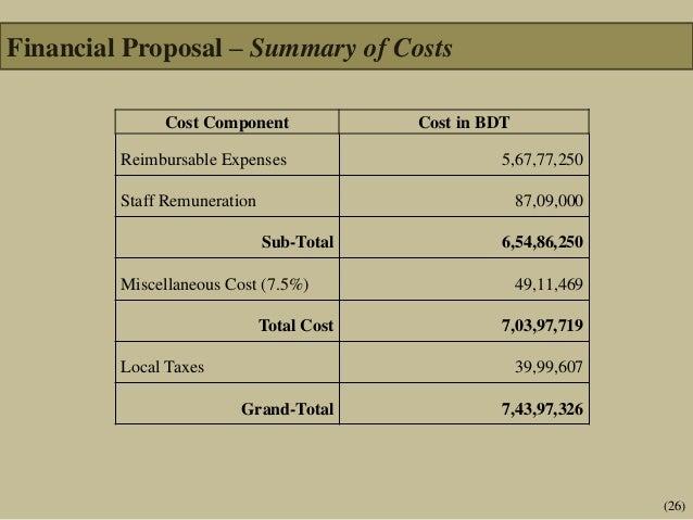 Technical And Financial Proposal Template Towerdlugopisyreklamowe
