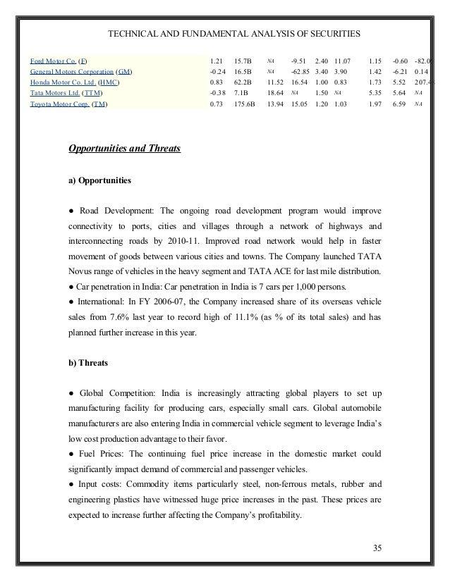 Technical and Fundamental Analysis of Tata Motors