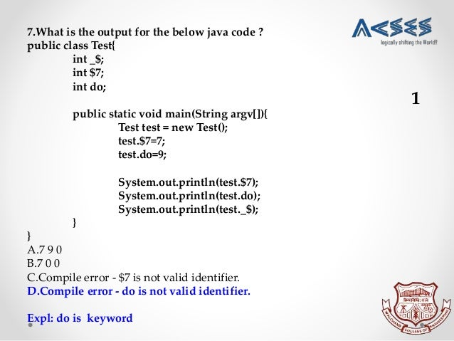 Technical aptitude Test 1 CSE