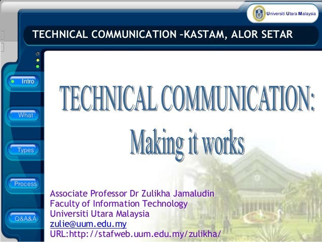 Universiti Utara Malaysia Associate Professor Dr Zulikha Jamaludin Faculty of Information Technology Universiti Utara Mala...