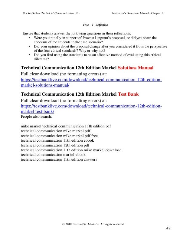 Mike Markel Technical Communication 11th Edition Pdf