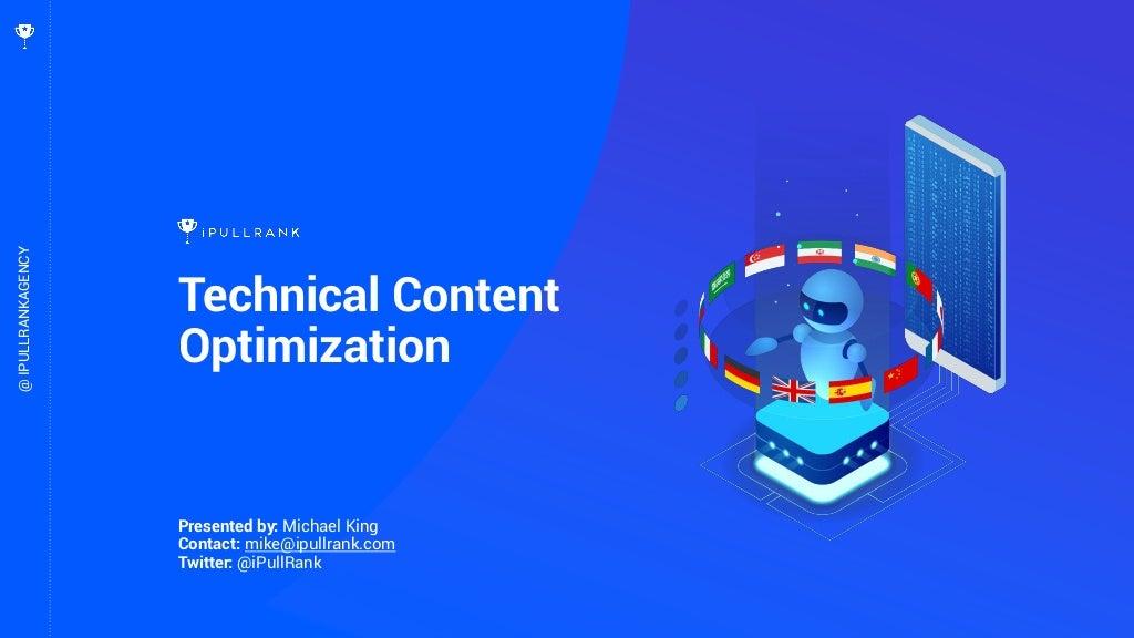 Technical Content Optimization