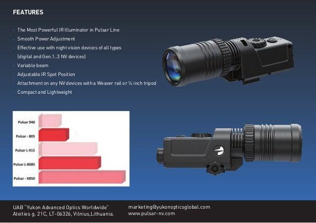 Technical Data Pulsar Ir Flashlight Pulsar X 850 Optics