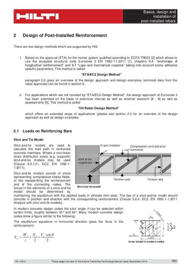 Technical data sheet for post installed rebar according to ec2 9 fandeluxe Images