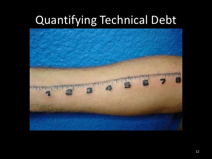 Quantifying Technical Debt<br />12<br />