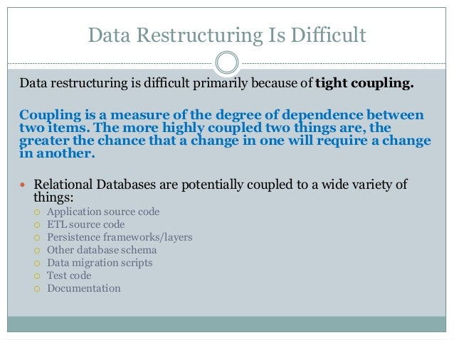 restructuring debt data The restructuring may involve extending the period of repayment, reducing the total amount owed, or exchanging a portion of the debt for equity in the debtor company also see extension .