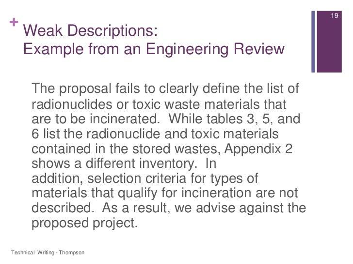 technical definitions description