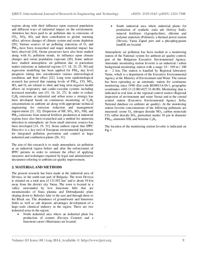 research paper on ambient air quality