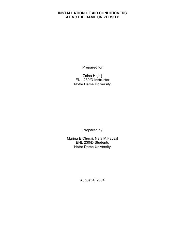 ndu term paper technical english for business communication report