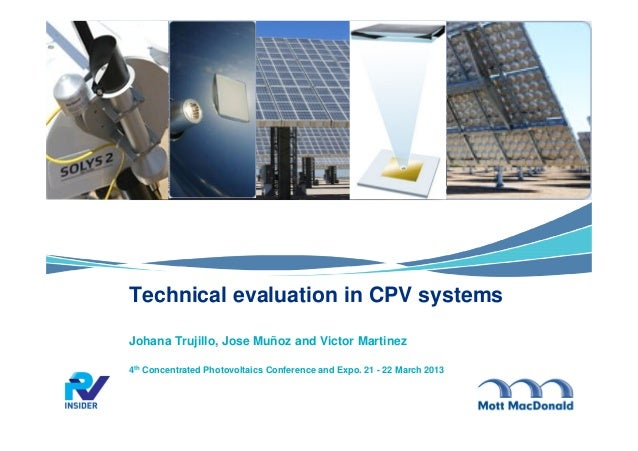 Technical Evaluation In Cpv Systems