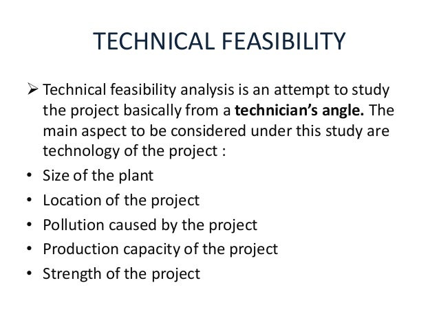 technical feasibility ppt