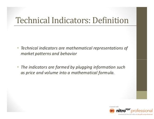Mathematical trading indicators