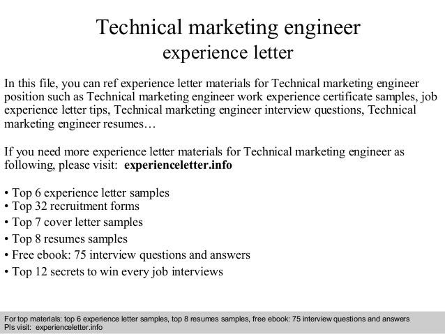 Interview Questions And Answers U2013 Free Download/ Pdf And Ppt File Technical Marketing  Engineer Experience ...