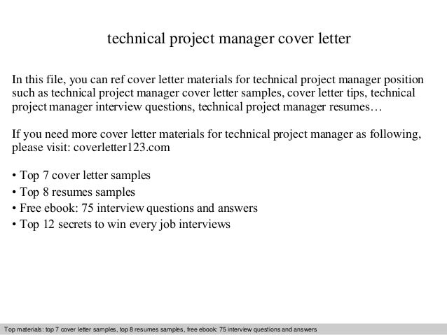 Charming Technical Project Manager Cover Letter In This File, You Can Ref Cover  Letter Materials For ...