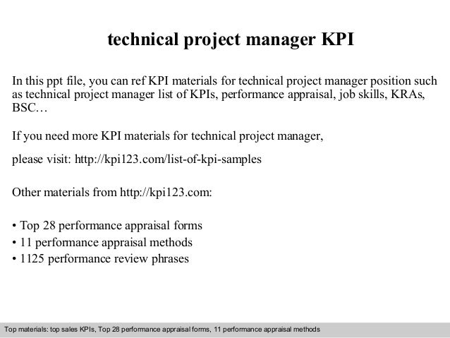 technical project manager KPI  In this ppt file, you can ref KPI materials for technical project manager position such  as...