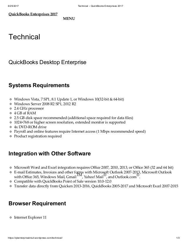 Technical – quick books enterprises 2017