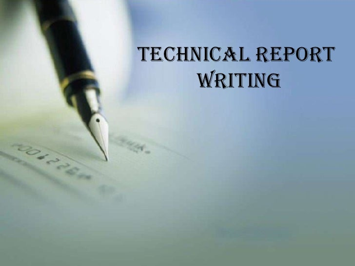 Topics for technical report writing