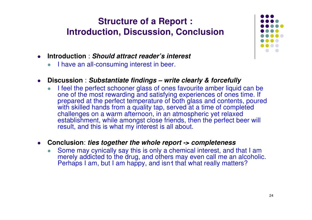 How to write a conclusion for technical report
