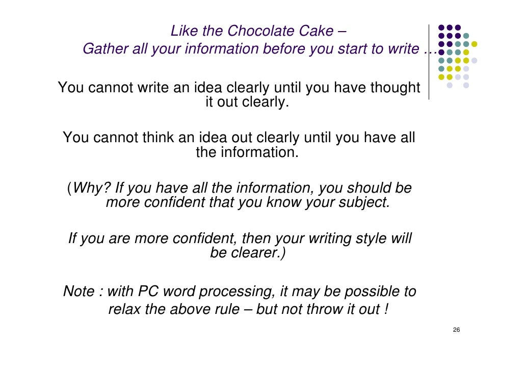 informative essay outline how to bake cakes How to write a process essay whether it's building a robot or cooking a chocolate cake, process essays use a how to write a 5-paragraph essay outline.