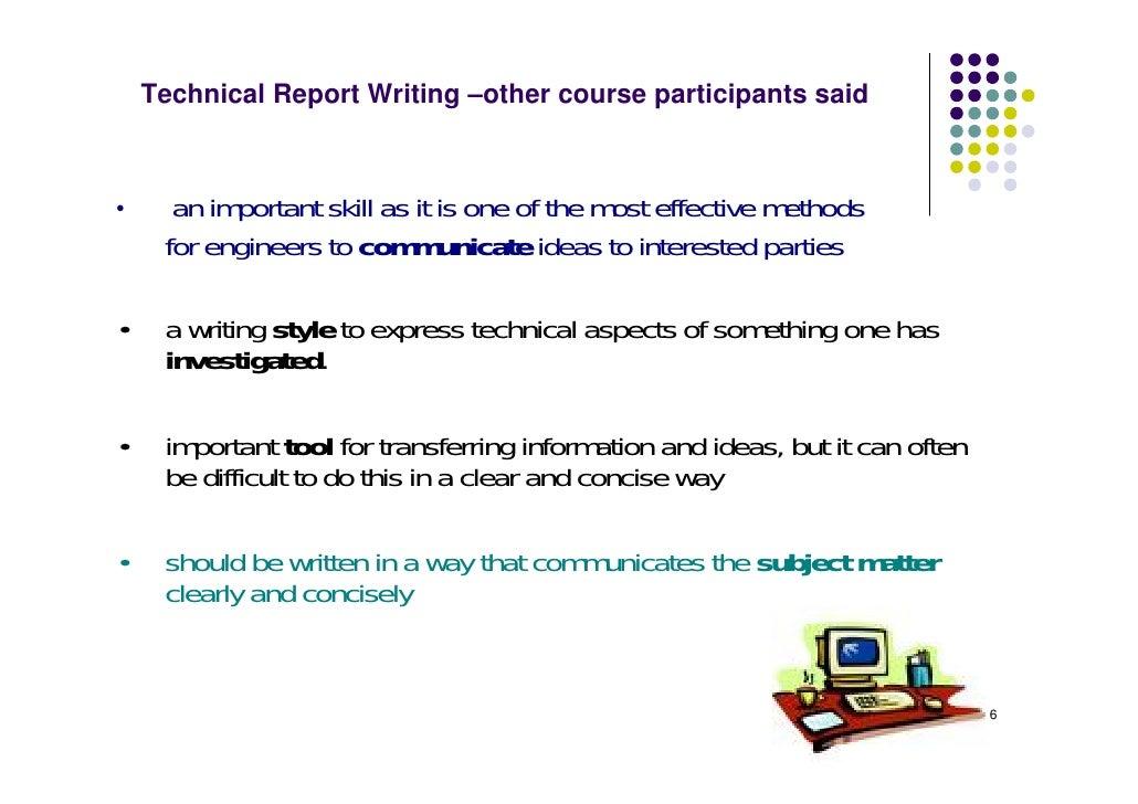 technical writing course description