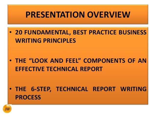 Best Practices for Technical Writers