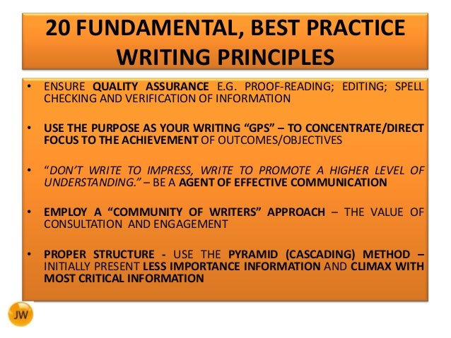 three best practices essay The act essay follows a predictable format, which means you can practice   reading and writing are activities that are best saved for the leisure of  typically , the three perspectives will be split: one for , one against , and one in the middle.