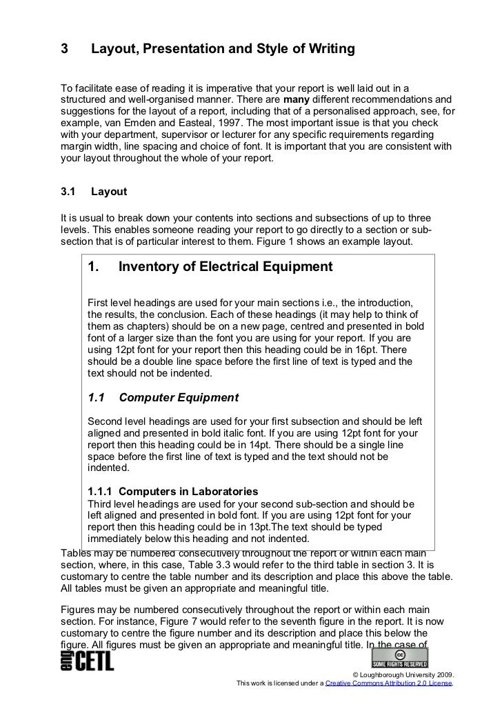 technical report examples