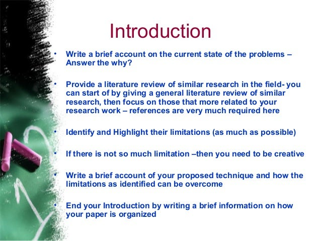 writing introductions research papers Sample mla research paper the research paper on the following pages is an example of how a paper is put together following mla guidelines introduction and the.