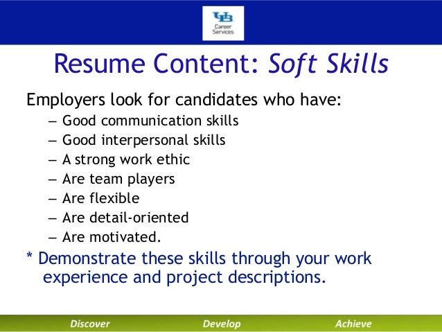Exceptional Resume Content: Soft Skills Employers Look ... Within Skills That Look Good On A Resume