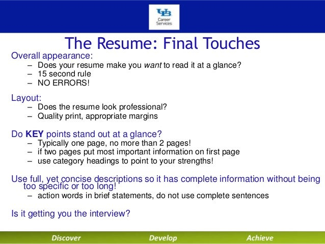 university at buffalo career services technical resumes