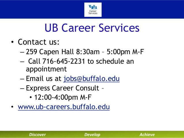 university at buffalo career services technical resumes and cover let