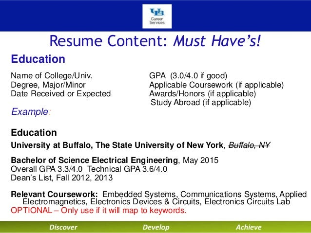 gpa in resumes